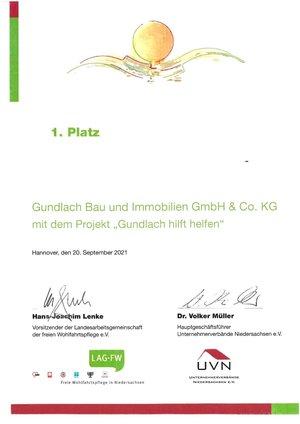 Gundlach mit dem Niedersächsischen Sozialpreis 2021 ausgezeichnet