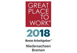 """Great Place to Work® hat Gundlach im Wettbewerb """"Beste Arbeitgeber in Niedersachsen-Bremen"""" zum 2. Mal ausgezeichnet"""