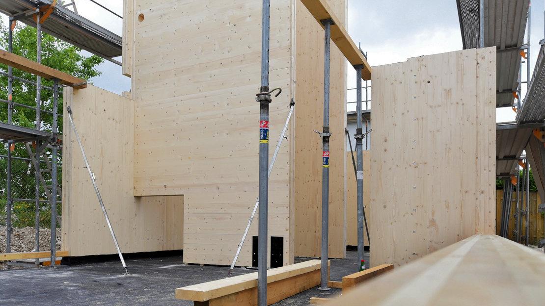 Gundlach Recyclinghaus Holzrohbau 2