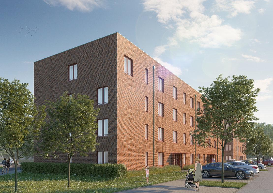 Eigentumswohnungen in Groß-Buchholz_Seitenansicht