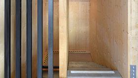 Gundlach Recyclinghaus Treppe Obergeschoss
